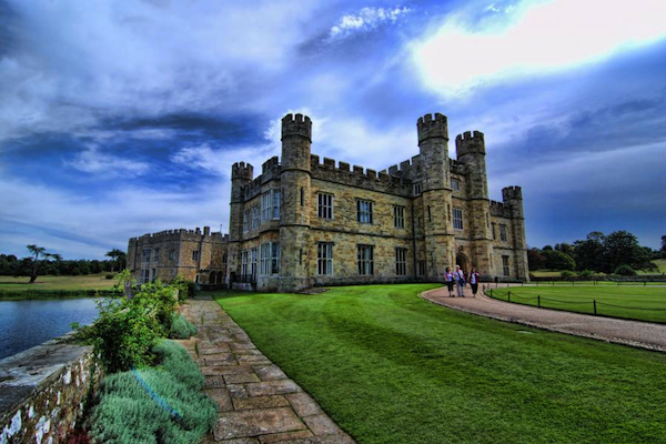 "Leeds Castle, Maidstone, Kent, England, home of the Culpepper and Fairfax families from 1632 to 1926.  The Post mark of Maidstone calls it the ""most beautiful castle in the world."""