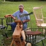 Montross native Bill Jenkins working on one of his chairs.  Source: Westmoreland News