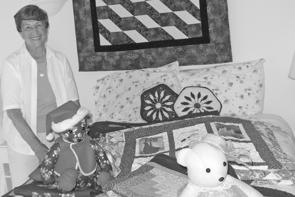 Jean Fisher with some of her needlework that will be featured at this month's Westmoreland County Museum Art and Wine show.  Source: Westmoreland News