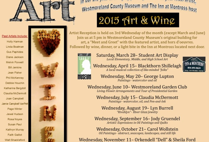 2015 Art and Wine Schedule Final