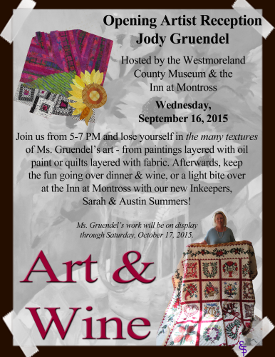 Art & Wine Jody Gruendel flyer