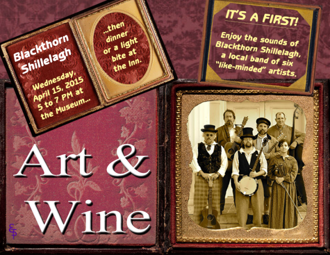 Blackthorn Shillelagh Art & Wine Flyer