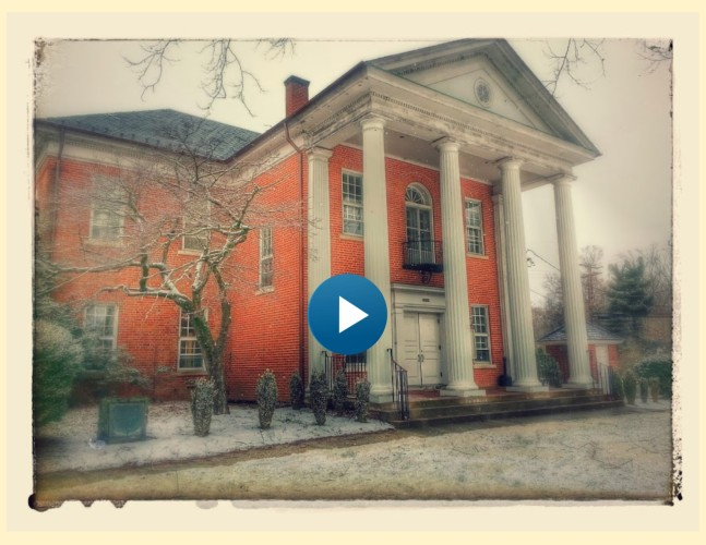Westmoreland County Courthouse with snowfall- favorite with play button