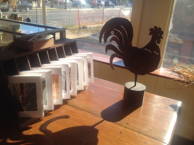 Rooster and Cards
